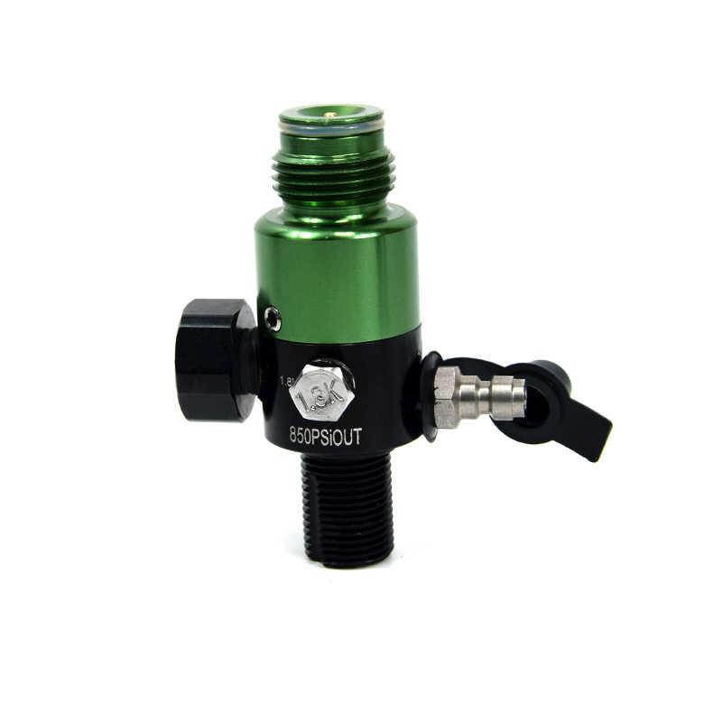 Regulador de acero inoxidable PCP Paintball 4500psi entrada 850psi salida 5/8-18UNF