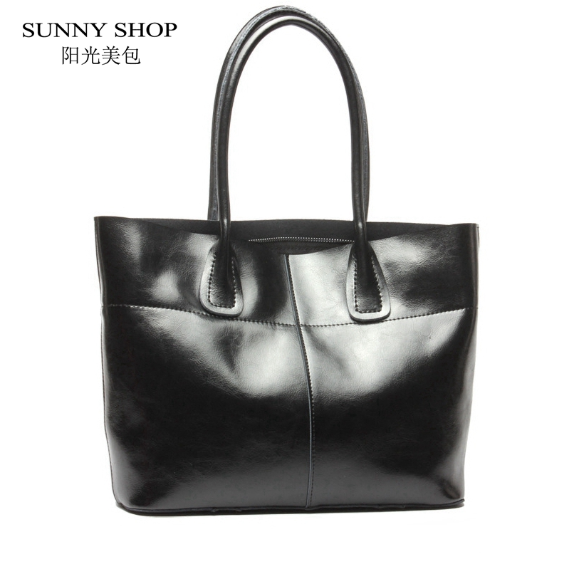 SUNNY SHOP Luxury Handbags Women Bags Designer American  Women Bag Women Real Leather Handbags Cow Leather Nature Skin Bag