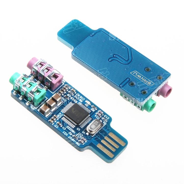 CM108 USB Drive Free USB Sound Card Laptop Computer External Sound Card Module