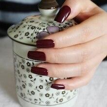 New 24pcs/set Dark Wine Red Long False Nails Nep nagels Fake Nails for Nail Art Decoration Manicure Faux Ongles R27-P83M