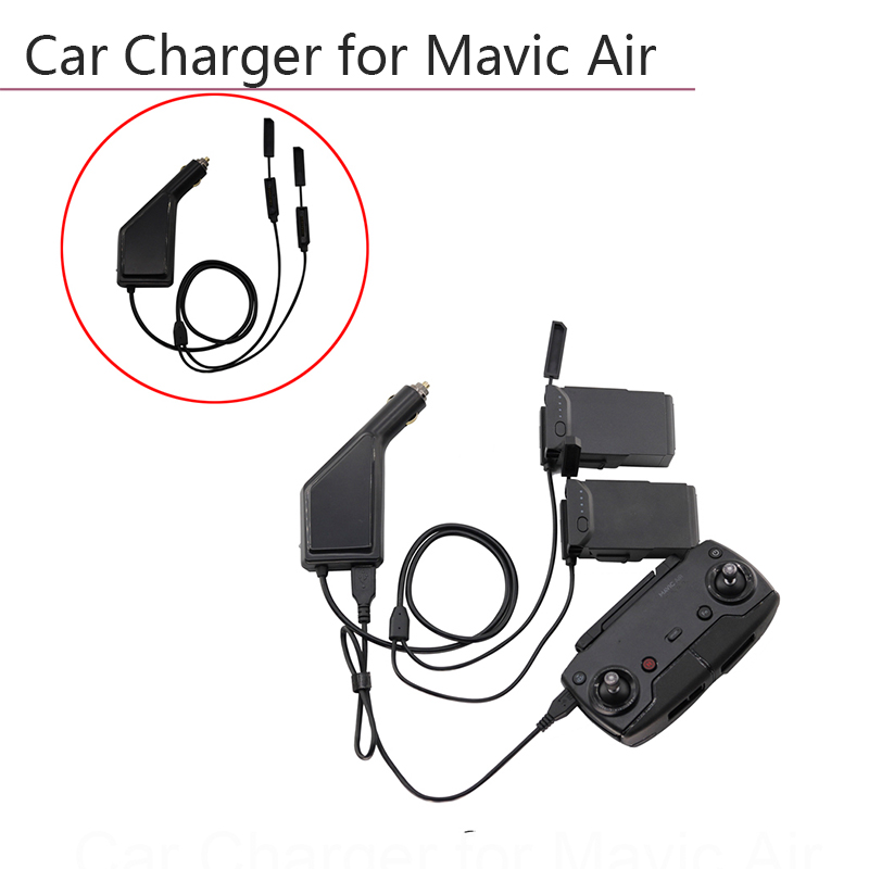 3 Ways Car Charger Battery Remote Controller With USB Charging Port Drone Transmitter For DJI Mavic Air Accessories