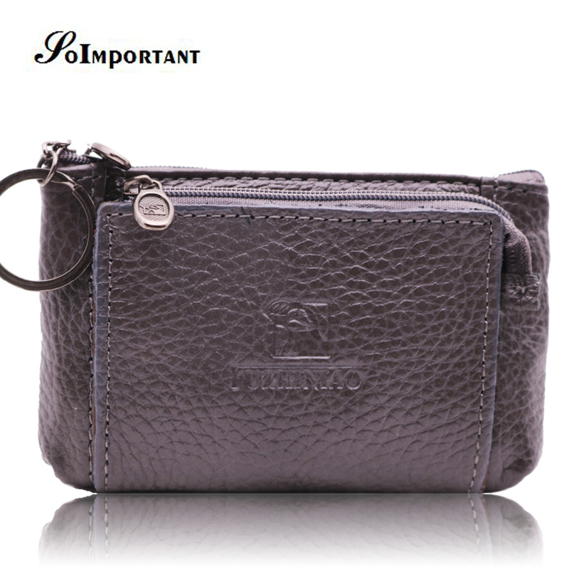 Genuine Leather Wallet Purse Mini Men Wallets Coin Purse Small Men Wallet Clutch Male Credit Card Slim Wallets Key Chain Holder