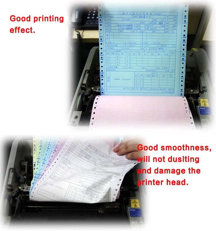 """Непрерывная форма печати 241*280 мм(9,5*1"""")-1ply компьютерная бумага 1000 листов в коробке"""