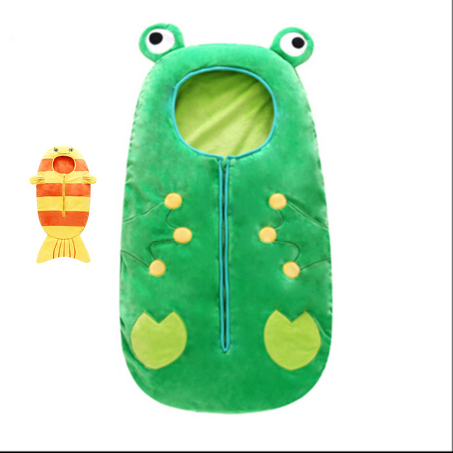 2017 frog newborn sleeping bag sleeppack winter stroller bed swaddle blanket wrap bedding