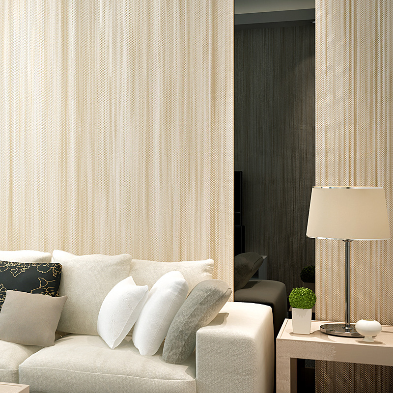 Beibehang Modern simple plain color linen wave point striped 3D wallpaper living room restaurant desktop background 3D wallpaper