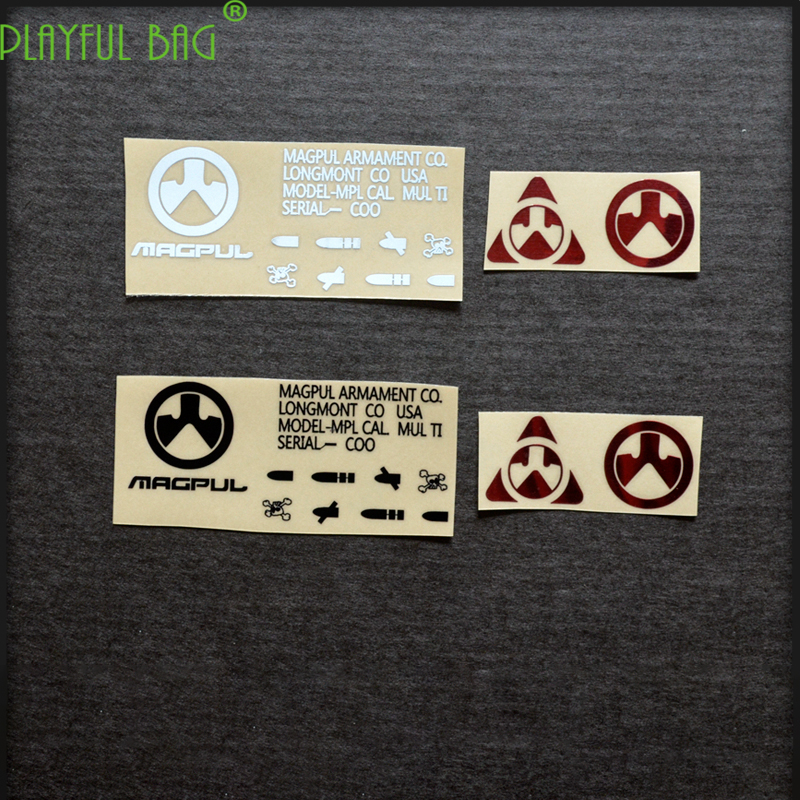 mmagp MK18 toy water bullet gun lovers Metal waterproof DIY sticker M4 for electric continuous firing M4 water bomb k7u L23(China)