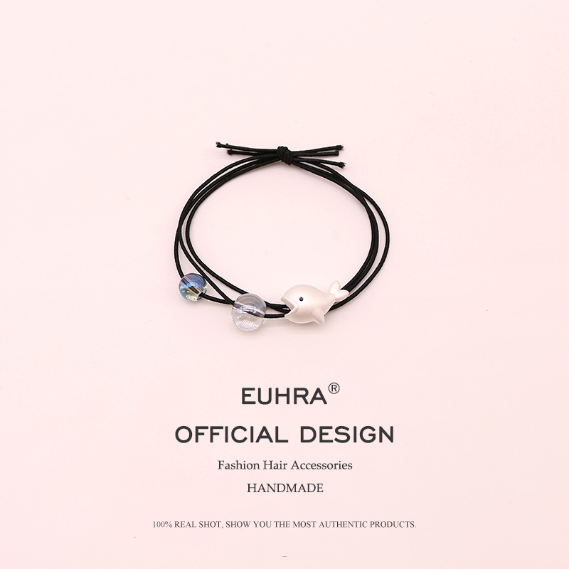 Euhra Fishion 4 Color Elastic Hair Band Silver Color Little Starfish Shell Dolphin Headwear For Girls And Women Hair Accessories