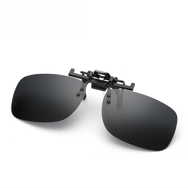 4e253b5a3d8 Polarized Clip On Flip Up Sunglasses Men Women for Myopia Glasses Driving  Fishing Eyewear Sun Glasses