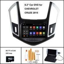 Android 7.1 Quad Core CAR DVD Player for CHEVROLET CRUZE 2013-2014 RADIO STEREO+1024X600 SCREEN /WIFI/3G+DSP+RDS+16GB flash