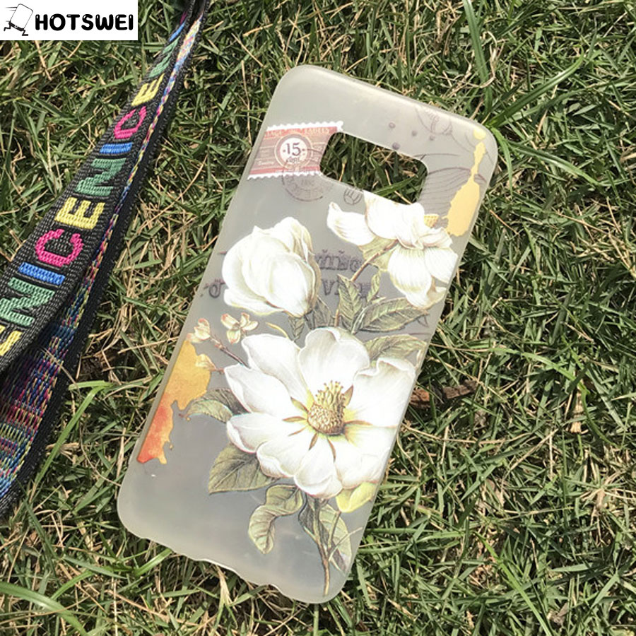 HOTSWEI для samsung S8 S8 + Case NEW 3D рельефным узором с цветочным принтом мягкий матовый Ясно ТПУ чехол для samsung galaxy S8 плюс крышка ...