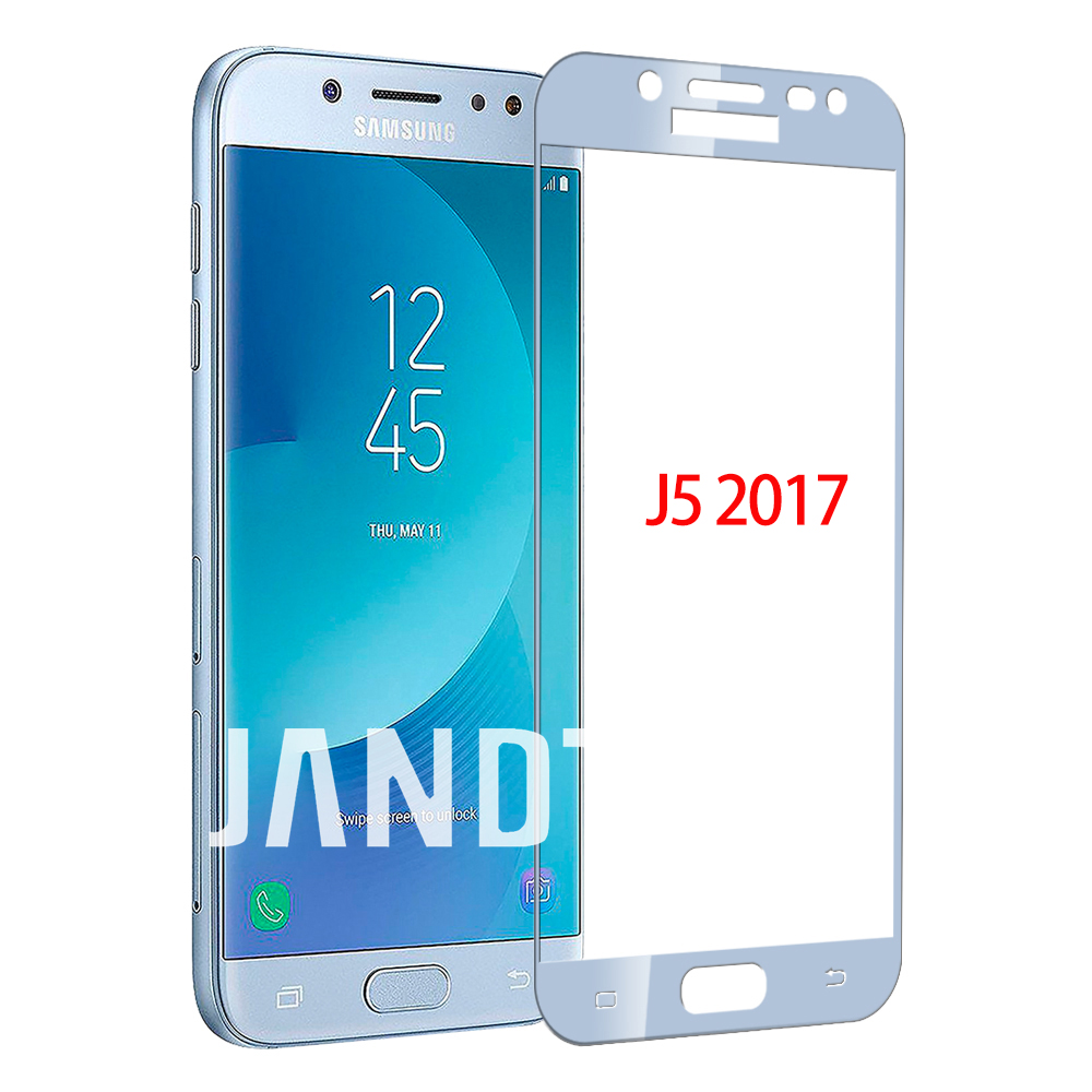 For Samsung Galaxy A3 A5 A6 A7 A8 Plus Screen Protector J3 J5 J7 Pro Tempered Glass Full Color Cover 2017 J4 J6 J8 2018