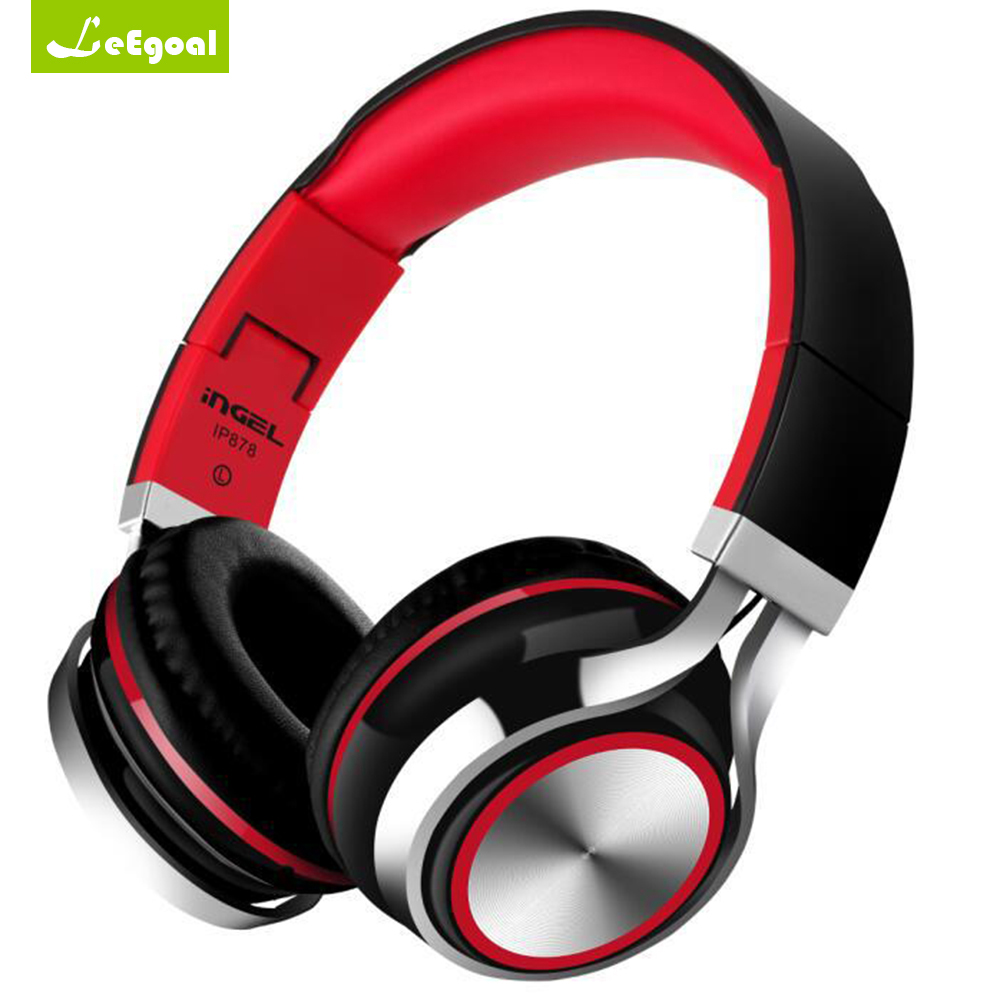 Stereo Headset Foldable Wired Headphones Super Bass Earphones with mic 3.5mm Aux Jack for Android phone iphone mp3 PC IP878