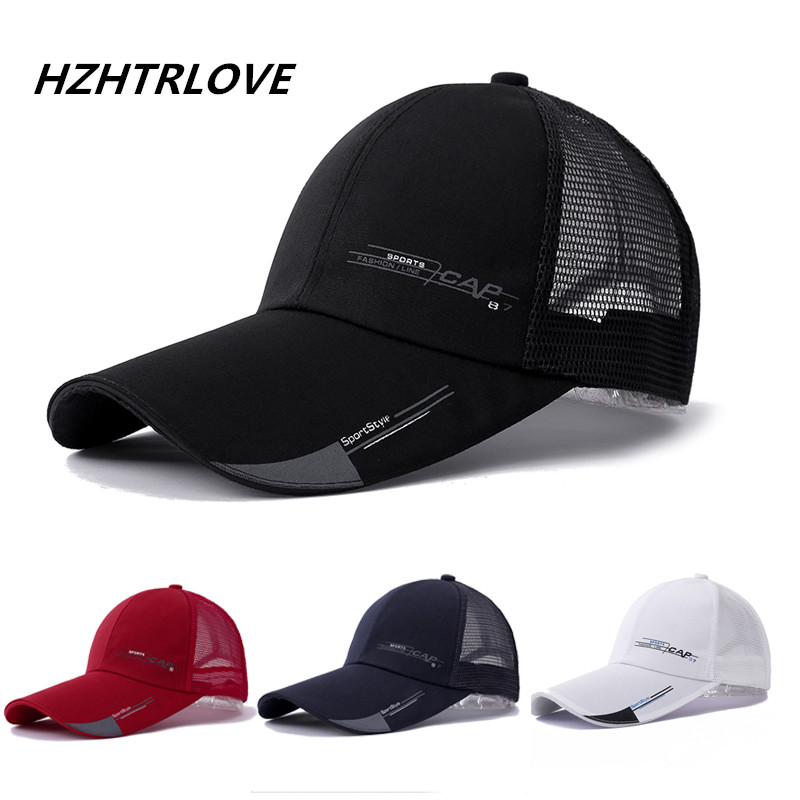 High Quality Long Brim Shade Snapback Sports Cap Men Women Hat For Fish Outdoor Mesh Baseball Cap Summer Dad Hat Bone Gorras high quality solid baseball cap with god all things are possible jesus snapback cap for men women hip hop cap dad hat bone