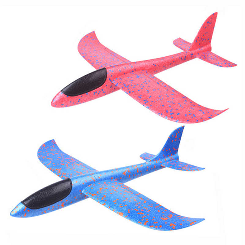 DIY Children's Hand Throwing Flying Toy Large Glider Aircraft Foam Plastic Airplane Model Toy Sturdy Kid's Games Boy's Gift 2019