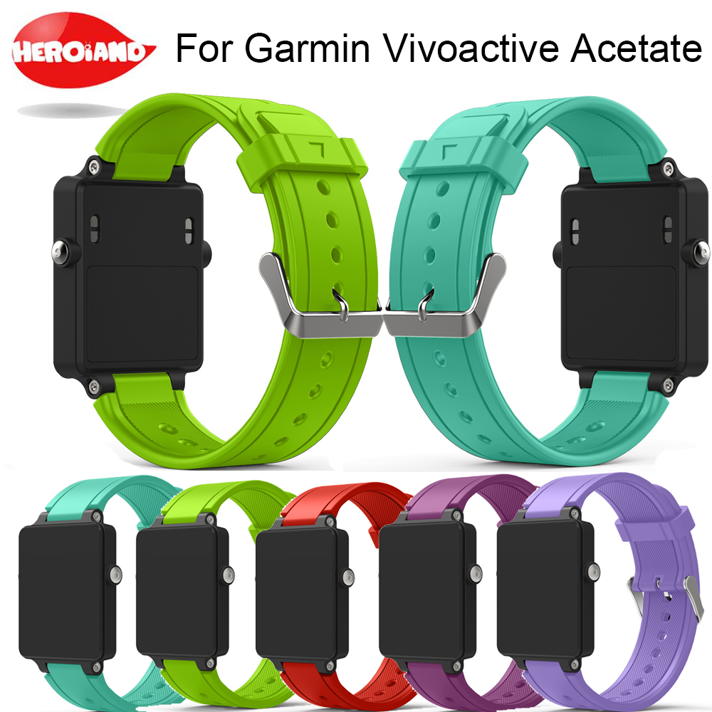 New Replacement Wristband Silicone Bracelet Watch Strap Band For Garmin Vivoactive Acetate Sports Watch Watchbands Correa Reloj цена