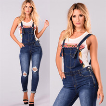 6c4e482368d CHAMSGEND Female suits Regular Slim Fit playsuit Women s Sleeveless Sexy  Denim Jeans