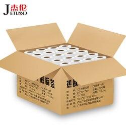 Rollos de etiquetas térmicas directas 100R, núcleo de 40mm, 1 Carón, ancho 30mm ~ 80mm, etiqueta de precio de báscula de supermercado ecológico