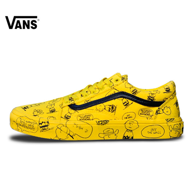 Original New Arrival VANS Men's & Women's Classic Old Skool Low-top PEANUTS Skateboarding Shoes Sneakers Canvas VN-ODBHCUT кеды vans vn 0zsnba2 vn 0zsnba2