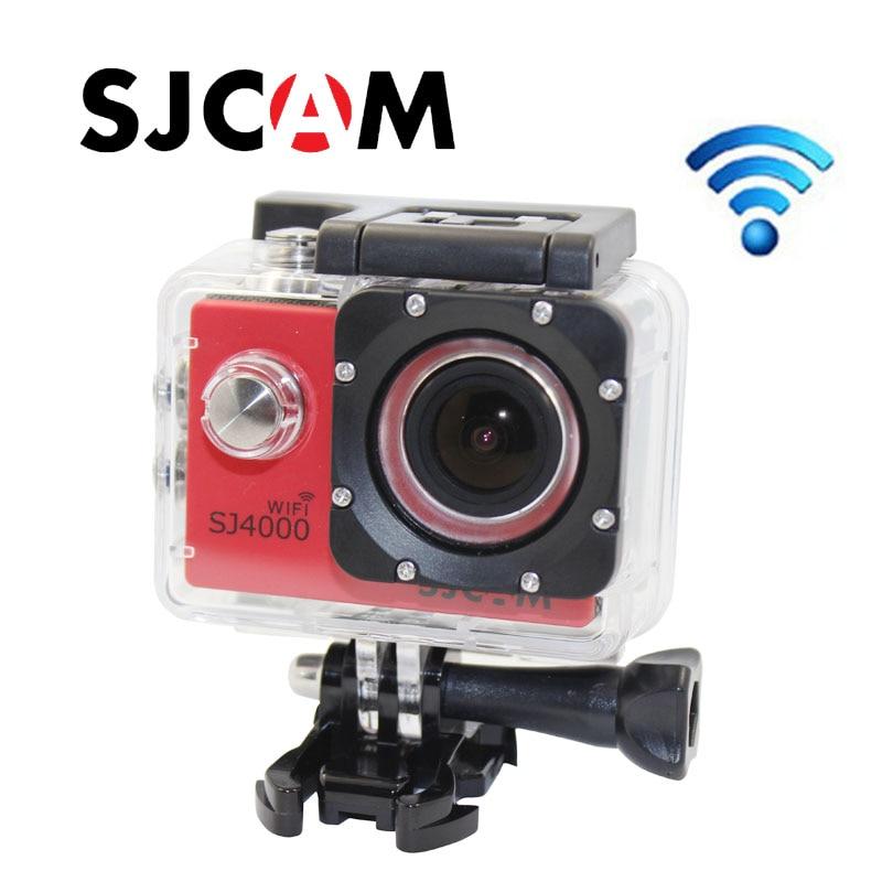 Livraison gratuite!! Original SJCAM SJ4000 WIFI plongée 30 M étanche extrême casque Cam Sport Action Cam