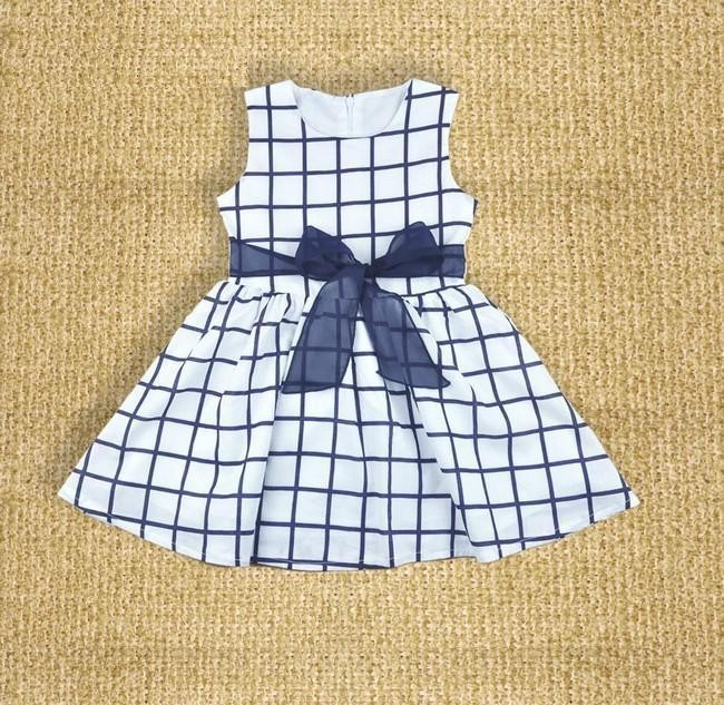 Summer Baby Dresses 2017 New Casual Newborn Dress for Babies Sleeveless Vest Baby Girls Clothes with Sashes 10