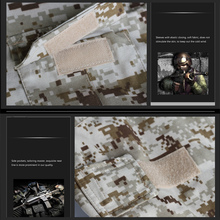 Camouflage tactical military clothing for paintball games army cargo pants combat trousers multicam militar tactical pants plus knee pads