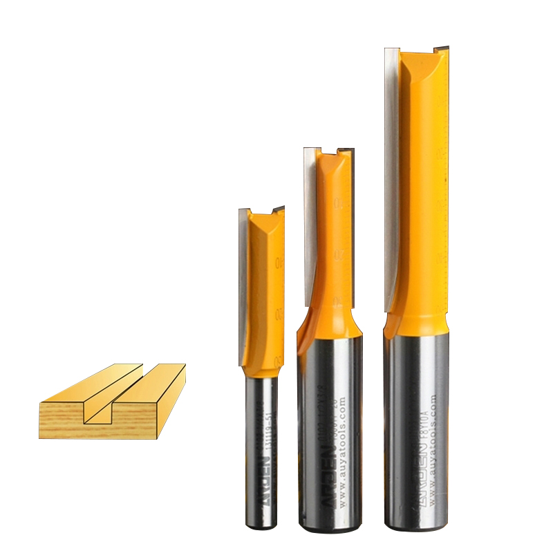 Double Flute Straight Arden Router Bit Slotted Knife Metric Flute Straight Bit - 1/4*1/4 - 1/4