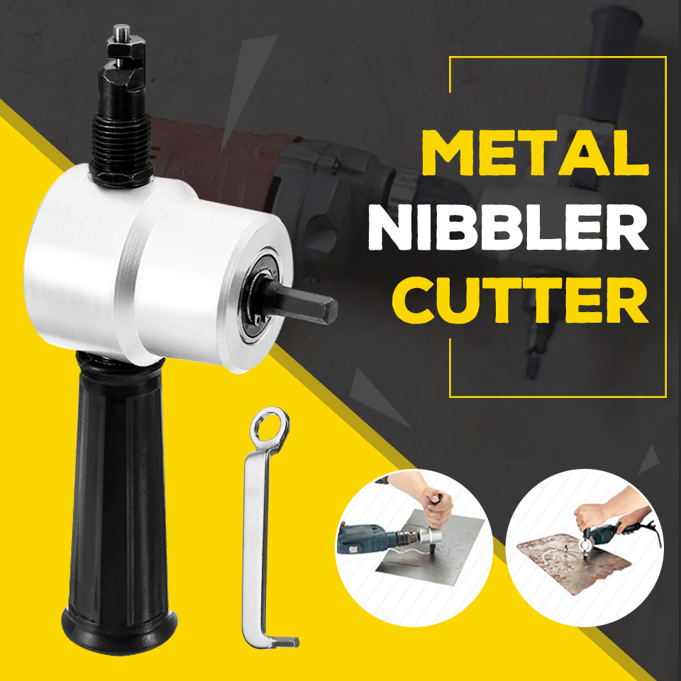 Sheet Metal Nibbler Cutter Double Head Sheet Nibbler Metal Cutter Drill Attachment Free Cutting Tool Newest Metal Cutting Tool