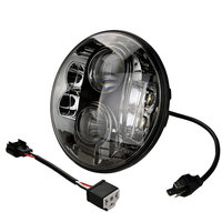 1pcs 7inch Inch Round 80W CR EE LED Headlight DOT Approved Hi Lo For Harley Davidson