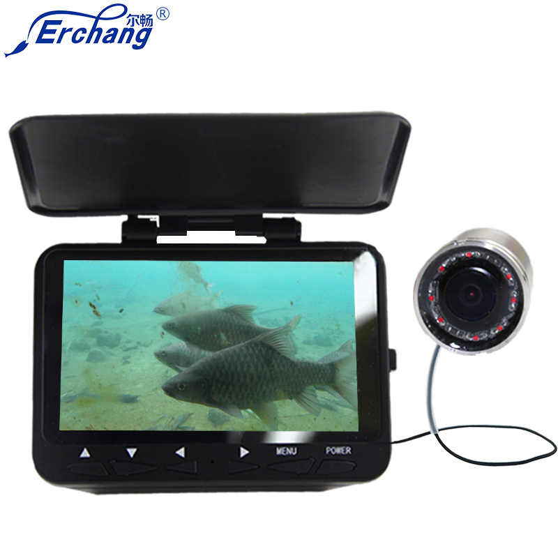 2018 NEW Erchang 4.3'' Monitor HD 1000TVL Underwater Camera for ice  Sea Fishing Fish Finder in Cameras in English