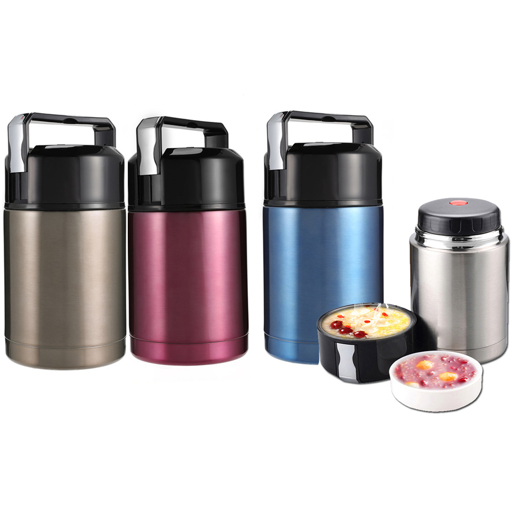 800ml ,1000ml Food Thermos Lunch Box Container Jar, Double Insulated Vacuum Food Lunch Container Stainless Steel for Camping