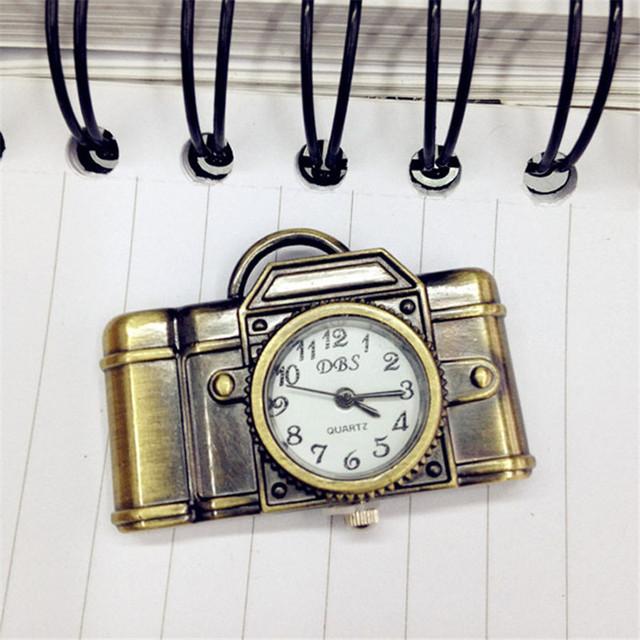 Dropship Unisex Antique Bronze Camera Design Pendant Pocket Watch Vintage Quartz Pocket Watch with Necklace Gift for Women