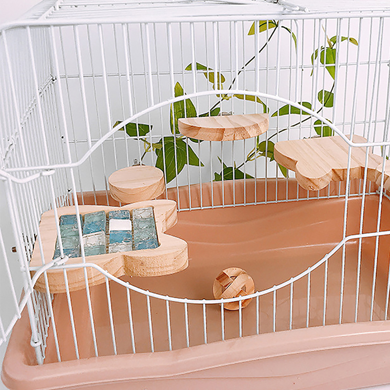 Double-Sided Wooden Pet Springboard Rabbit Small Pet With Cooling Mat Pad Cage Toys Rabbit Totoro Hamster Summer Toy