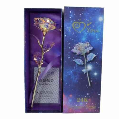 24 K Folha De Ouro Rosa Flor Flores Artificiais Para Sempre Rosa Melhores Presentes para o Dia Das Mães Dia Dos Namorados Aniversário do Aniversário Das Meninas