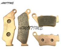 Motorcycle Parts Copper Based Sintered Motor Front & Rear Brake Pads For Bmw F650CS F650GS F650 F650ST 1999 2012
