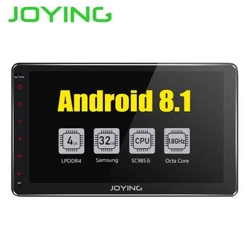 JOYING Android 8.1 2 din Autoradio Stereo Multimedia Player GPS Radio 10,1 ''IPS HD Bildschirm Kopf Einheit mit DSP Octa core 4 GB RAM
