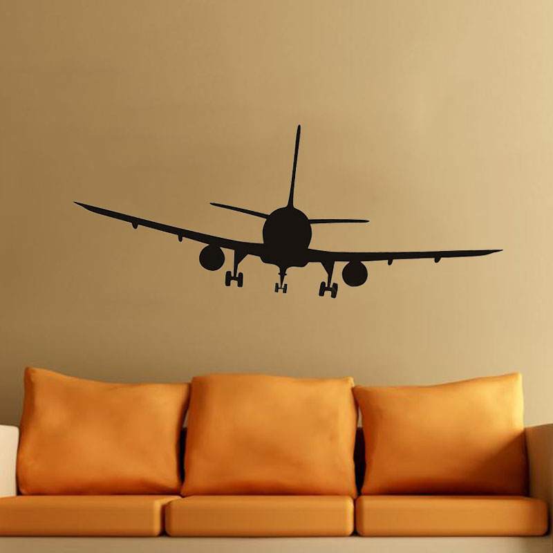 Vinyl Decal Commercial Airliner Wall Sticker Home Decor Airplane Silhouette For Artisitc Decorations