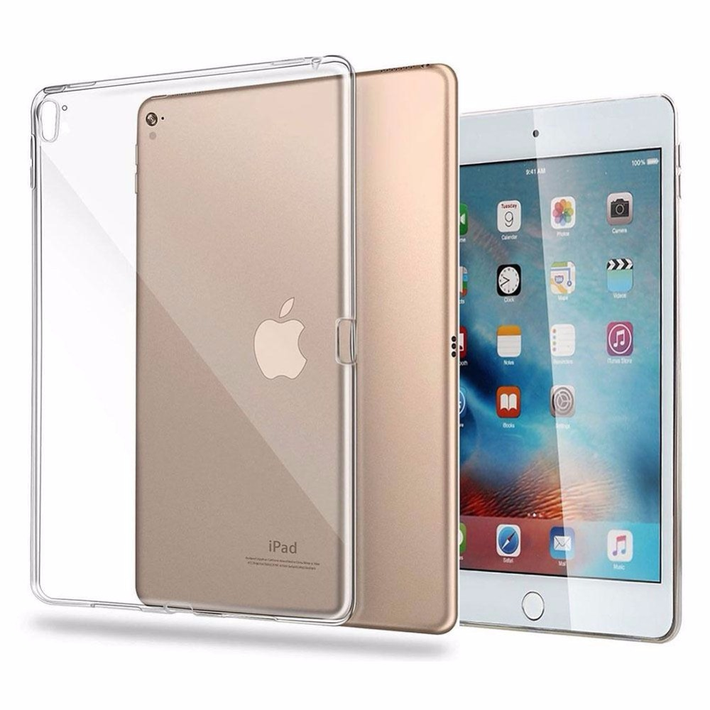 Silicone TPU Crystal Clear Soft Back Case Cover Shield Slim Protection Transparent Fit Durable For iPad Pro 9.7 inch belkin shield swing case cover for ipad air