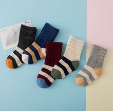 5pairs /lot Baby boys girls fashion  striped socks Boys girls cotton socks Kids autumn winter socks Children socks