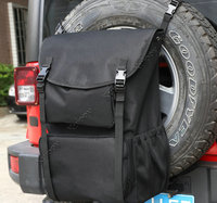 For Jeep Wrangler JK TJ YJ Luggage Multi Pockets Backpack Tool Organizers Trunk Cargo Backpack Spare Tire Storage Bag