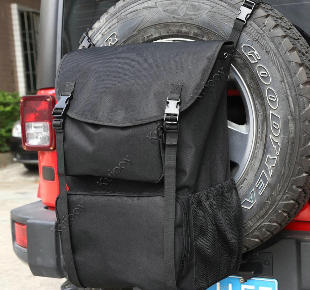 Для Jeep Wrangler JK TJ YJ багаж мульти карманы рюкзак инструмент органайзеры БАГАЖНИК Грузовой рюкзак запасная шина сумка для хранения