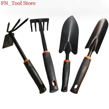 New 4Pcs Garden Tool Set Shovel Trowel Leaf Trimmer Rake Miniature Fairy Garden Planting Transplanters Hand Tool Kit+