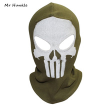 Mr Hunkle Punisher Masks Cosplay Costume Balaclava Hats Paintball WarGame Halloween Tactical Airsoft Ghost Skull Full Face Mask