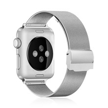 2019 Fashion Stainless Steel Weave Milanese Apple Watch Band 38mm 40mm 42mm 44mm Metal Watchband for iWatch Series 1/2/3/4