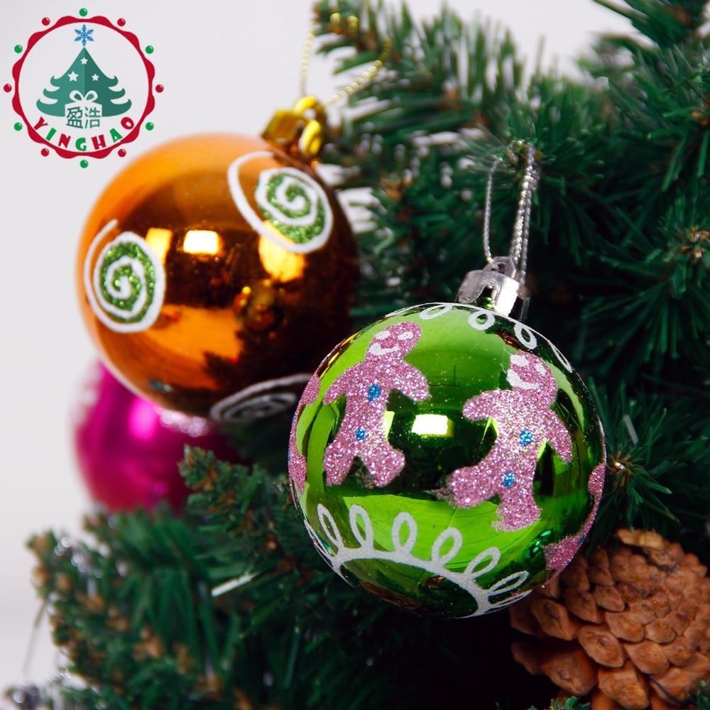 inhoo Decor 24pc Multicolor Theme Pack Ornaments for Tree Decor Ball ...