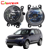 Cawanerl 100W Car Halogen Fog Light Daytime Running Lamp DRL For Mitsubishi Outlander II CW W