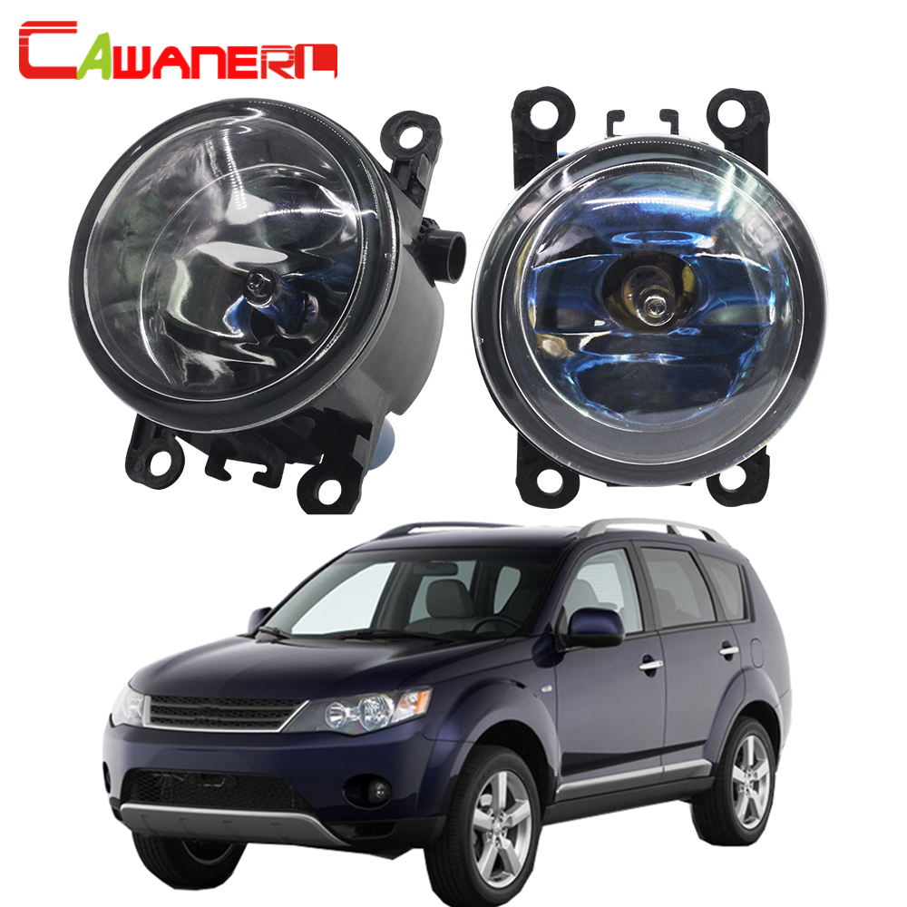 Cawanerl 100W Car Halogen Fog Light Daytime Running Lamp DRL For Mitsubishi Outlander II CW_W Closed Off-Road Vehicle 2006-2012 cawanerl 2 x car light led drl daytime running light fog lamp 12v high power for mitsubishi outlander 2 ii cw w 2006 2009