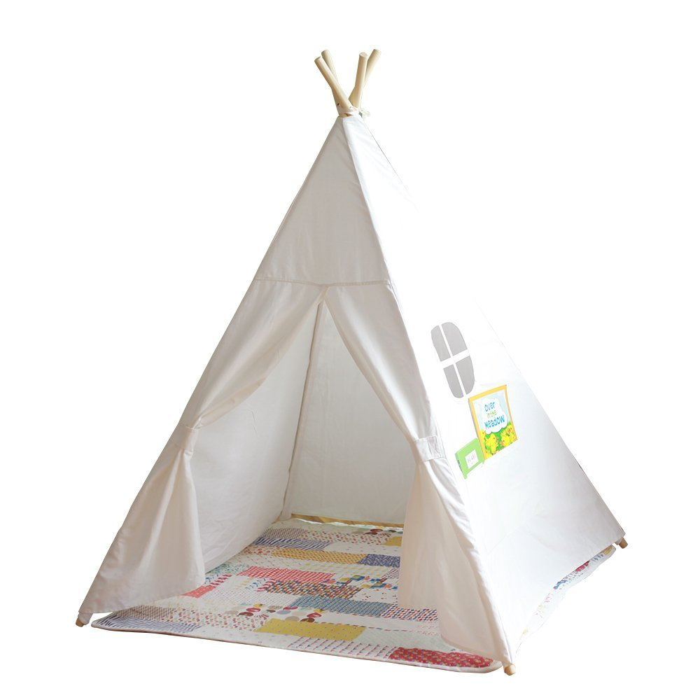 Great Gift Idea Kids Teepee Tent Canvas Teepee and 4 Wooden Poles kids play house-in Toy Tents from Toys u0026 Hobbies on Aliexpress.com | Alibaba Group  sc 1 st  AliExpress.com & Great Gift Idea Kids Teepee Tent Canvas Teepee and 4 Wooden Poles ...