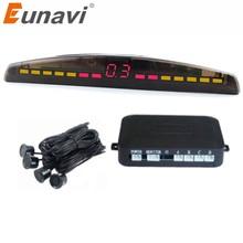 Eunavi Car LED Parking Sensor Kit 4 Sensors 22mm Backlight D