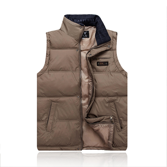 SXXXXL Autumn and Winter New Leisure Men's Down Jacket Vest Stand Collar Waistcoat Sleeveless Vest Men Cotton Mens Outdoors Vest