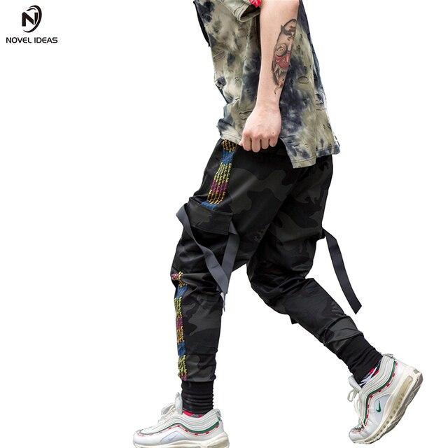 99689324ed1 Novel ideas 2018 New Dry Men s Pants pocket Full Length Men HIPHOP joggers  Pants Plus Size Trousers men belt women streetwear